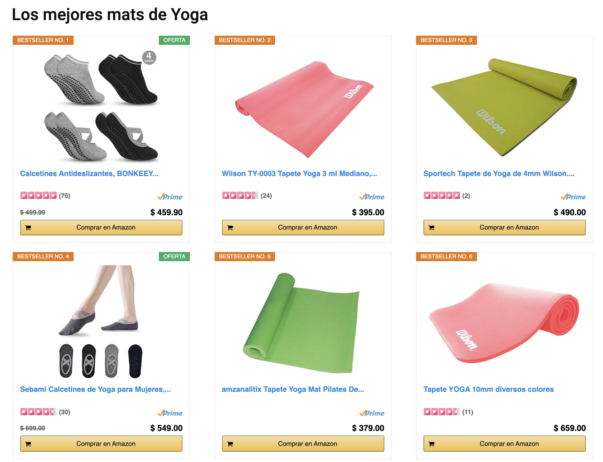Actualiza siempre precios yevita que Amazon Afiliados cierre tu Cuenta