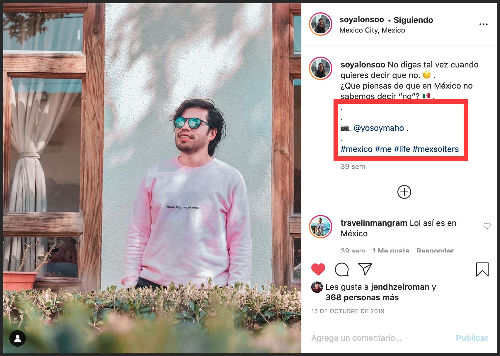 Cómo separar los párrafos Instagram